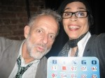 My Director and I with our losing Bingo Card. Unlucky at Bingo -Lucky in theater is my motto.