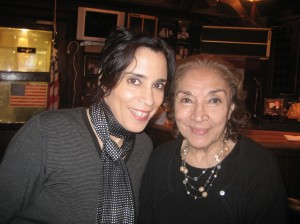 Miriam Colon founded Puerto Rican Traveling Theater.She co-produced me Off-Broadway in 2006 in LOS BIG NAMES. She was one of the handful of Latina's getting work in Hollywood in the 50's and 60's. She played Scarface's mom and I love her. She's my hero.