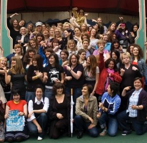 Me and 80 women comics in Edinburgh. You can find me on top in the gold