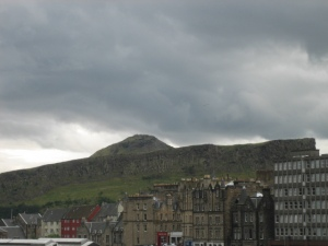 King Arthur's Seat: I can see it on the way to my gig