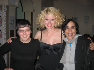Scotsgay's Jean Genie, Micaela Leon, amazing chanteuse, and me