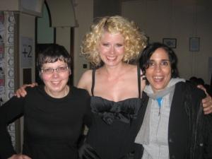 Scotsgay's Jean Genie, Micaela Leon, amazing chanteuse, and me